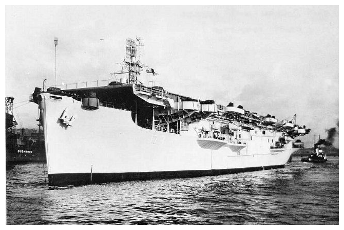 HMS Ranee emerges after her conversion into a troop ship in Noh44ember 1945. Photo: Author's collection