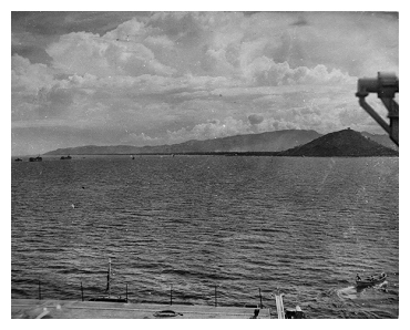 HMS Slinger Anchored in San Pedro Bay, Leyte Gulf.  Photo: Courtesy of David Yates