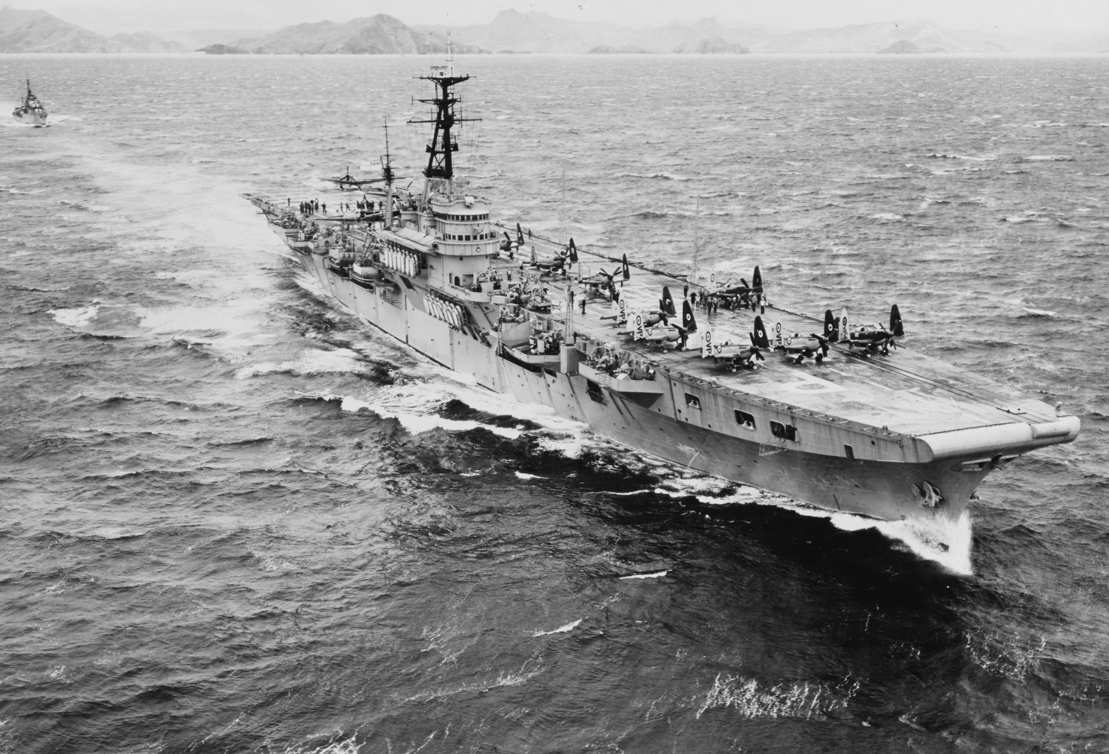 HMS TRIUMPH at sea