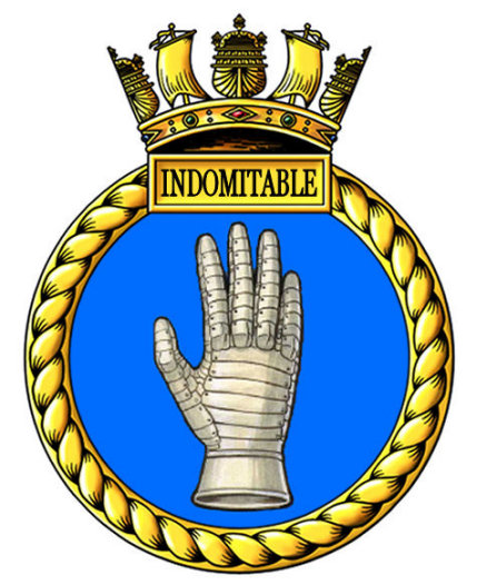 HMS Indomitable Badge
