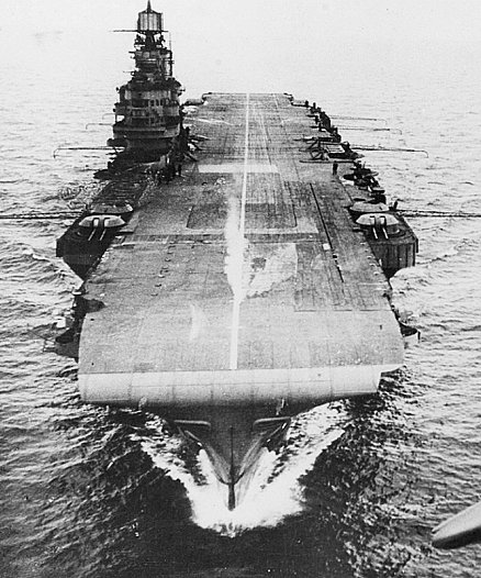HMS Indomitable underway